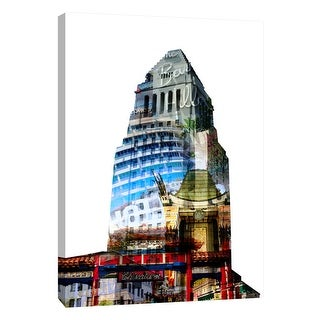"""PTM Images 9-109022  PTM Canvas Collection 10"""" x 8"""" - """"Los Angeles Spirit"""" Giclee Buildings and Landmarks Art Print on Canvas"""
