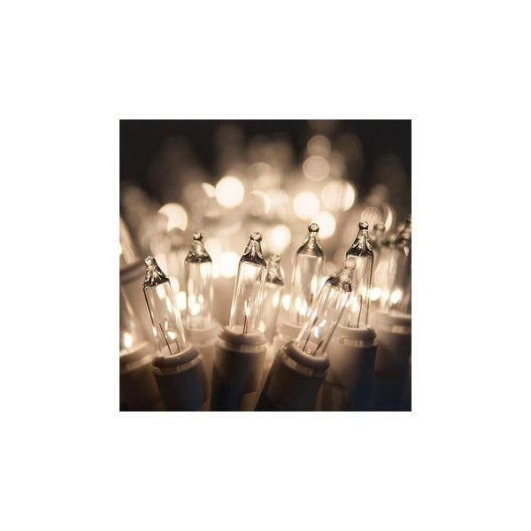 "Wintergreen Lighting 15181 13.3' Long Indoor Standard 35 Mini Light Holiday Light Strand with 4"" Spacing and White Wire"
