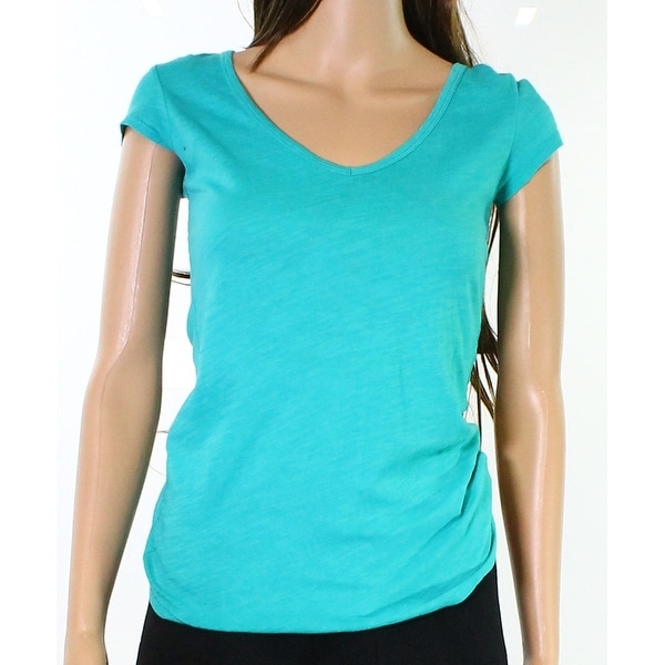 518d997c3f83d American Eagle Outfitters NEW Blue Womens Size Small S V-Neck Tee T-Shirt  485
