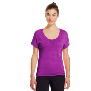 Women's Under Armour 1239239 UA Arena Burnout Short Sleeve Shirt Purple M
