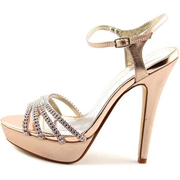 Caparros Womens Belle Open Toe Ankle Strap Platform Pumps