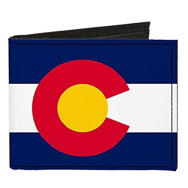 Buckle-Down Canvas Bi-fold Wallet - Colorado Flag Accessory