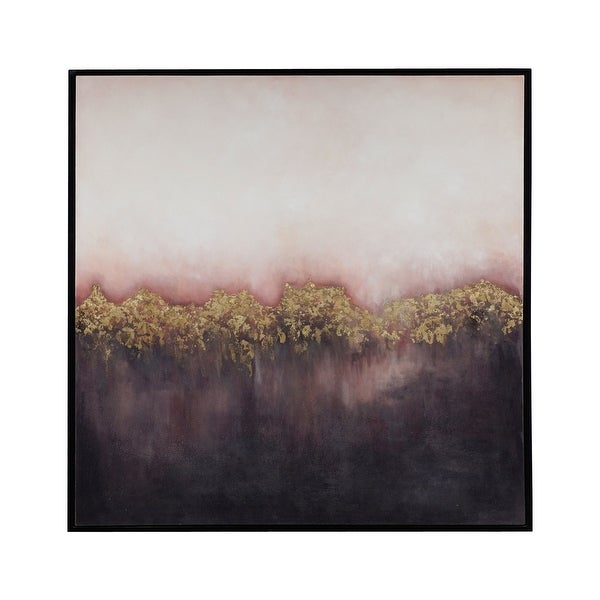 """Elk Home 7011-1468 Event Horizon 48"""" x 48"""" Framed Painting on Hand Stretched Canvas - Pink"""