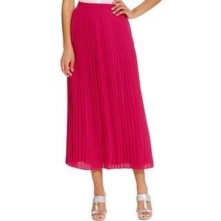 Tommy Hilfiger Womens Maxi Skirt Knife Pleat Full Length