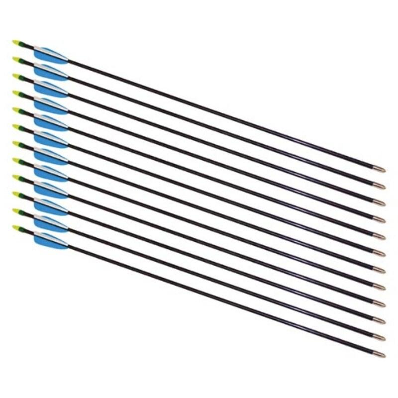 """28"""" Fiberglass Arrows - 12 Arrows thumbnail"""