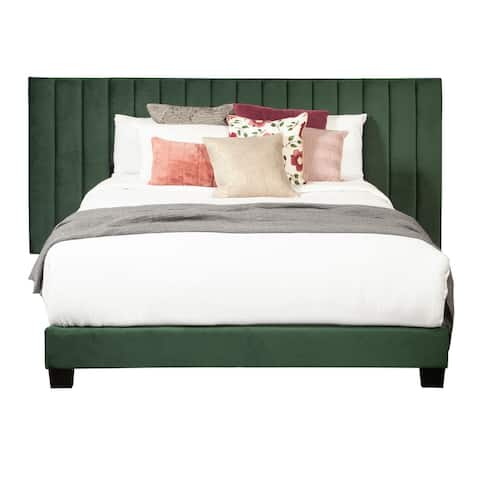 Qn One Box Channeled Wall Bed- Emerald