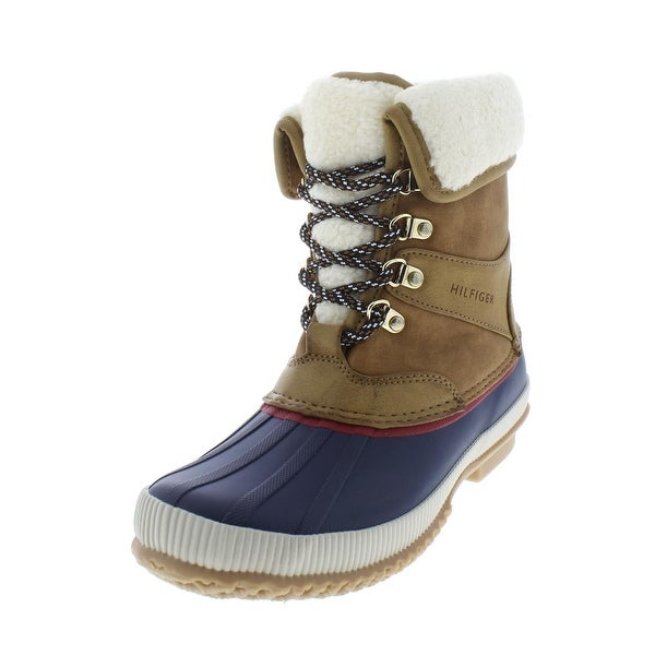 344ee6b07468 Tommy Hilfiger Womens Rustee Winter Boots Ankle Round Toe - 8 medium (b