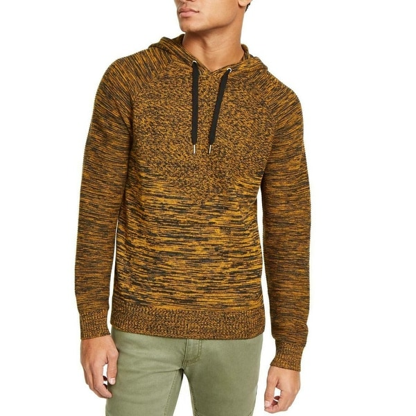 INC Mens Sweater Black Gold Splendor Size XL Hooded Marled Knit Spacedye. Opens flyout.