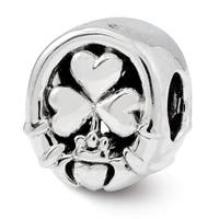 Sterling Silver Reflections Three Leaf Clover Bead (4mm Diameter Hole)