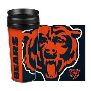 Chicago Bears Travel Mug 14oz Full Wrap Style Hype Design