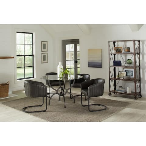 Brendelle Gunmetal and Anthracite 5-piece Dining Set
