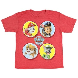 Paw Patrol T Shirt Little Boys Nickelodeon TV Show Cartoon Characters Tee