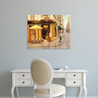 Easy Art Prints Haixia Liu's 'Red House Café' Premium Canvas Art