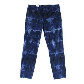Lauren Ralph Lauren NEW Blue Women's Size 6 Cropped Skinny Jeans