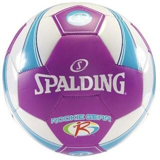 Spalding Rookie Gear Soccer Ball (Size 3, Purple/Blue)