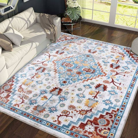 Bohemian & Eclectic Floral Pattern Area Rugs