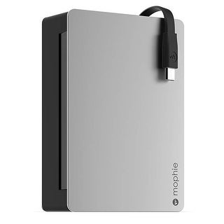 Mophie Powerstation Plus Quick-Charge External Battery 5000 mAh Up to 3X with Micro USB Cable - Silver