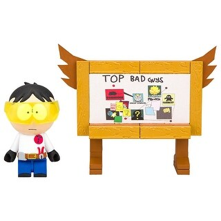South Park Top Bad Guys Board 45-Piece Construction Set w/ Toolshed Stan - Multi