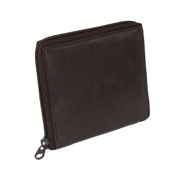 Paul & Taylor Men's Leather Zip Around Hipster Credit Card Wallet - One size
