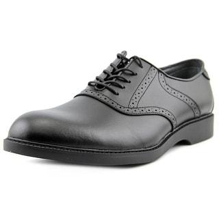 Bass Pomona Men 3E Round Toe Leather Black Oxford