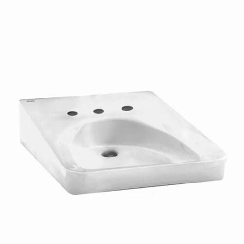 "American Standard 9141.911 Wheelchair 20"" Wall Mounted Porcelain Bathroom Sink - White"