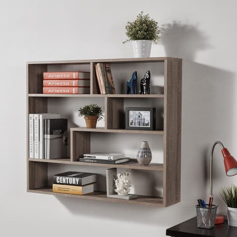 Danya B. Large Weathered Oak Rectangular Shelf Unit