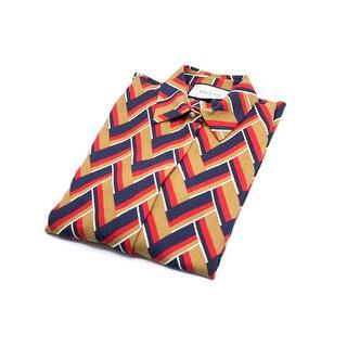 Gucci Women's Multi-Color Chevron Printed Button Down - 0|https://ak1.ostkcdn.com/images/products/is/images/direct/79d8b5db43899e09d4dfe3d110daee5f90c46fe6/Gucci-Women%27s-Multi-Color-Chevron-Printed-Button-Down.jpg?impolicy=medium