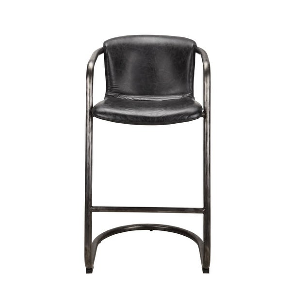 Moes Home Collection Pk 1060 Freeman 40 Inch Tall Iron Bar Stool With Leather Up