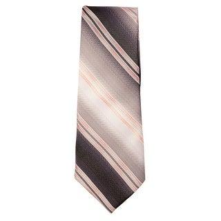 Marquis Men's Grey and Pink Stripes 3 1/4 Tie & Hanky Set TH201-006 - regular