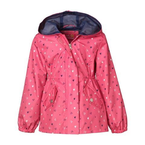 Pink Platinum Girls 4-6X Heart Mesh Jacket