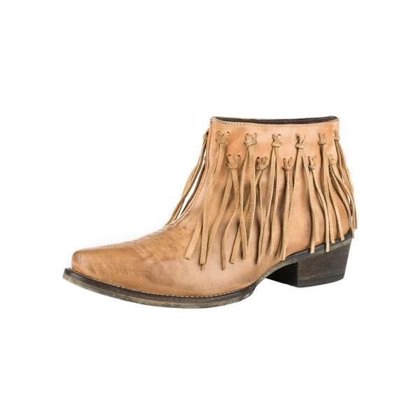 Roper Western Boots Womens On the Fringe Tan