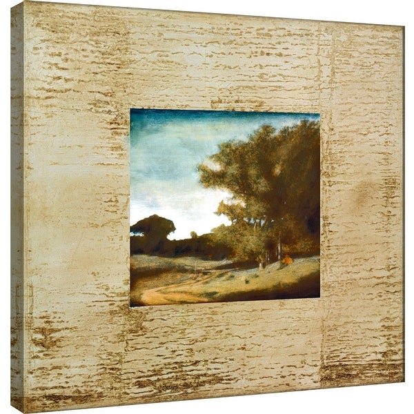 """PTM Images 9-100872 PTM Canvas Collection 12"""" x 12"""" - """"Tecnica I"""" Giclee Roads & Paths Art Print on Canvas"""