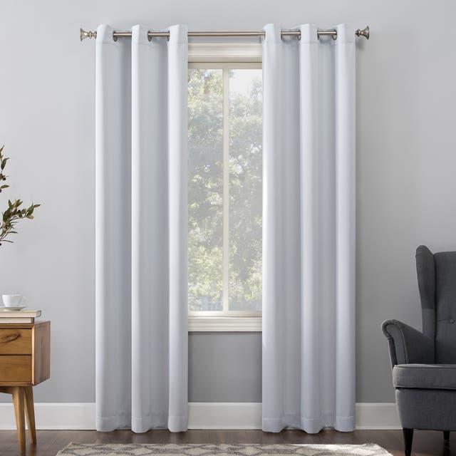 Sun Zero Hayden Energy Saving Blackout Grommet Curtain Panel, Single Panel - 40 x 63 - Dove White