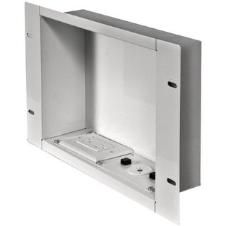 PEERLESS-AV IBA2AC-W In-Wall Metal Box with Knockout (With Power Outlet)