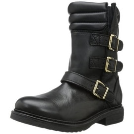 Bronx Womens Tone Down Leather Mid-Calf Motorcycle Boots - 40