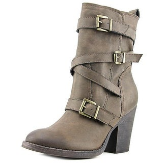 Madden Girl Kloo Round Toe Synthetic Boot