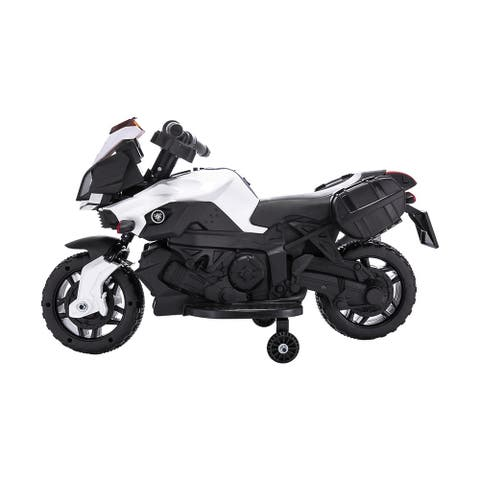 Kids Ride on Motorcycle 6v Toy Battery Powered Electric 4 Wheel Power - 8' x 11'