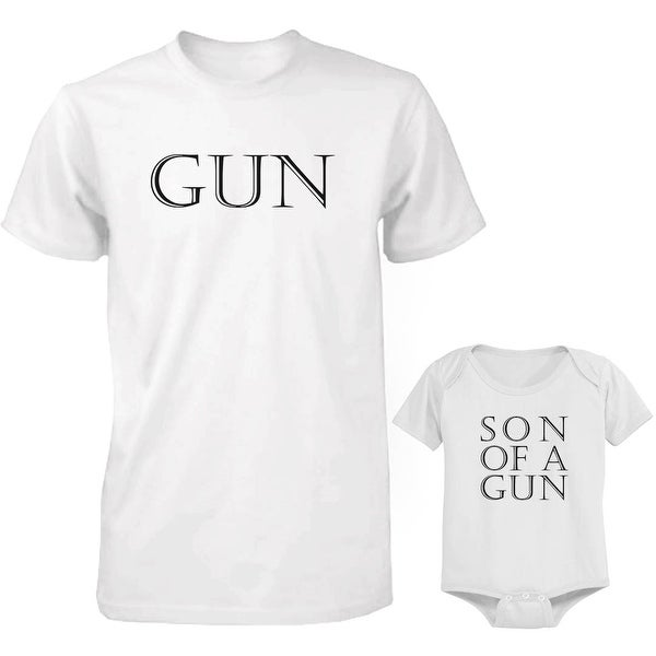 Gun Dad and Baby Matching Shirt and Bodysuit