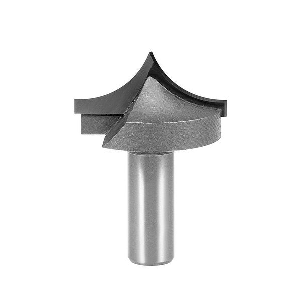 Router Bit 1/2 Shank 1-5/8 inch Dia Tapered End Mill, Carbide for Woodworking