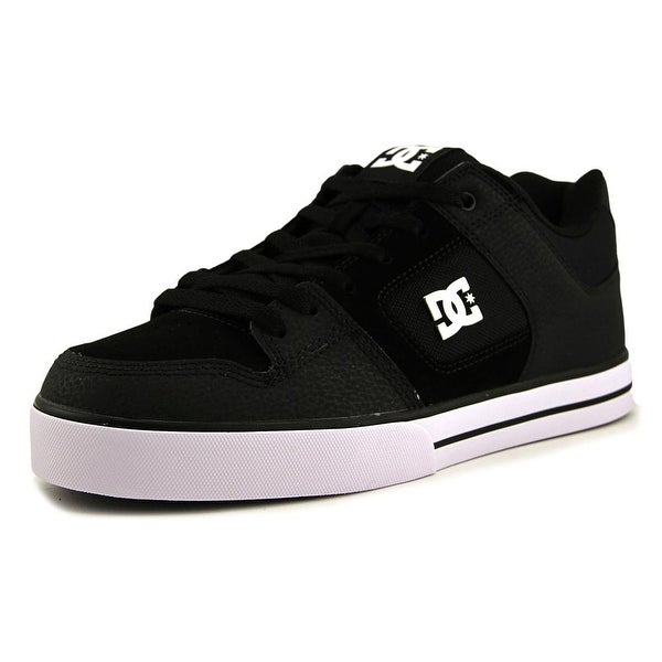 DC Shoes Pure SE Men Round Toe Leather Black Skate Shoe