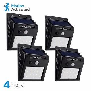 2/4/8 Pack 20 LED Solar Outdoor Wall Lighting, Motion Sensor, Black, 6500K
