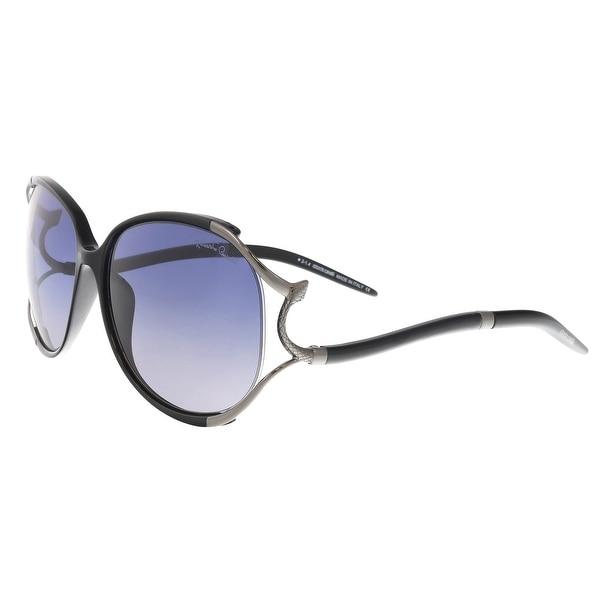 Shop Roberto Cavalli RC895 S 01B Hamal Black Oval Sunglasses - 60-16 ... 8f1c1352e7