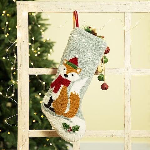 Glitzhome Christmas Warm Hooked Stocking