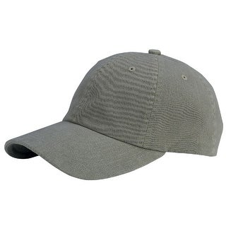 Low Profile Dyed Cotton Twill Cap - Olive
