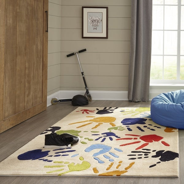 Momeni Lil Mo Whimsy Finger Paint Hand Tufted Polyester Contemporary Area Rug. Opens flyout.