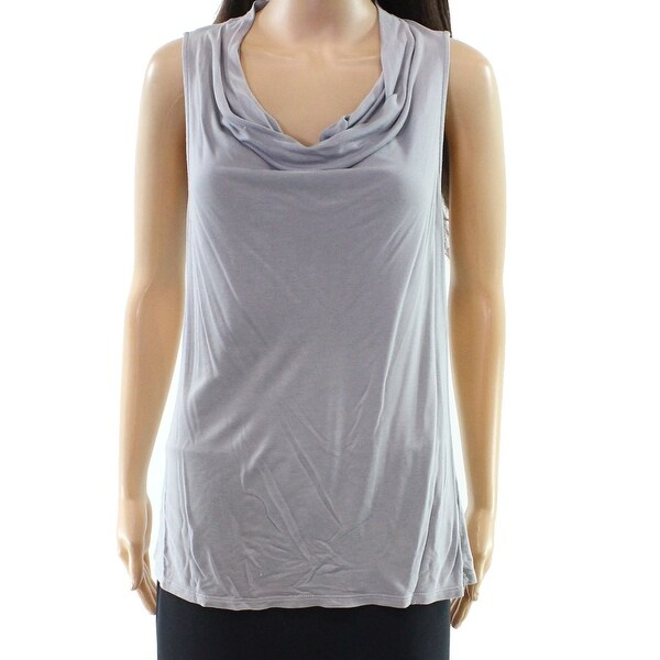 8dbba6a9738a5b Shop Olivia Moon Gray Women s Size Medium M Cowl Neck Tank Cami Top - Free  Shipping On Orders Over  45 - Overstock - 22397905