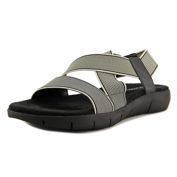 Aerosoles Wipgloss Women Black Stripe Sandals