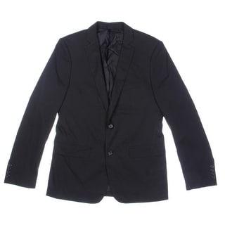 Zara Basic Mens Notch Collar Lined Two-Button Blazer