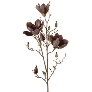 "Pack of 6 Artificial Decorative Gray Magnolia Floral Spray 35"""