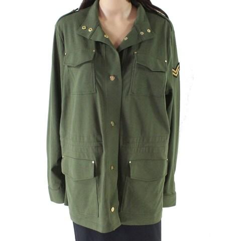 Lauren by Ralph Lauren Green Women's Size Medium M Button Jacket